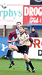 Drogheda United's Damien Maher and Cork City's Pat Morley in action during thier league encounter at United Park..Picture Paul Mohan Newsfile