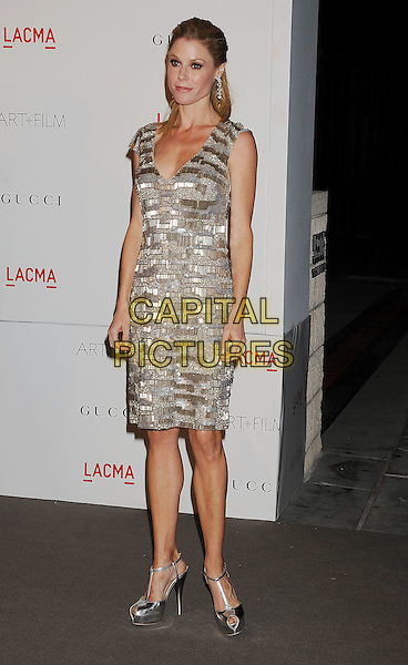 Julie Bowen.The Inaugural Art and Film Gala held at LACMA in Los Angeles, California, USA..November 5th, 2011.full length dress silver gold grey gray sleeveless .CAP/ROT/TM.©Tony Michaels/Roth Stock/Capital Pictures