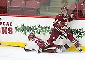 Karly Heffernan (Harvard - 27), Tori Sullivan (BC - 9) - The visiting Boston College Eagles defeated the Harvard University Crimson 2-0 on Tuesday, January 19, 2016, at Bright-Landry Hockey Center in Boston, Massachusetts.