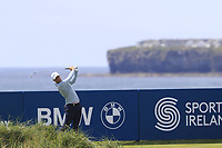 Lucas Bjerregaard (DEN) tees off the 4th tee during Thursday's Round 1 of the Dubai Duty Free Irish Open 2019, held at Lahinch Golf Club, Lahinch, Ireland. 4th July 2019.<br /> Picture: Eoin Clarke | Golffile<br /> <br /> <br /> All photos usage must carry mandatory copyright credit (© Golffile | Eoin Clarke)