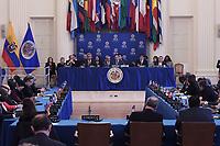 Washington, DC - April 17, 2019: Ecuador President Lenin Moreno and OAS Secretary General Luis Almagro attend a meeting at the Organization of America States (OAS) April 17, 2019.  (Photo by Lenin Nolly/Media Images International)