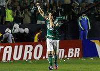 SÃO PAULO,SP,05 JULHO 2012 - COPA DO BRASIL FINAL  - PALMEIRAS x CORITIBA<br /> Valdivia  jogador do Palmeiras comemora gol durante partida Palmeiras x Coritiba válido pela final  da Copa do Brasil  no Estádio Arena Barueiri,  na noite desta quinta feira (05). (FOTO: ALE VIANNA -BRAZIL PHOTO PRESS).
