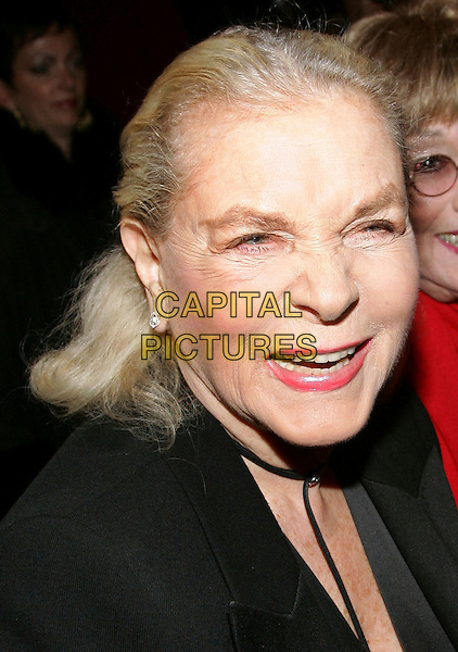 "LAUREN BACALL.The 7468th performance of the ""Phantom Of The Opera"" at the Majestic Theatre.  It becomes the longest running show on Broadway, New York, NY. .January 9th, 2006.Photo: Jackson Lee/Admedia/Capital Pictures.Ref: JL/ADM.headshot portrait smiling.www.capitalpictures.com.sales@capitalpictures.com.© Capital Pictures."