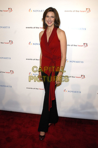 "BRENDA STRONG.Attending Events of the Heart, a non-profit organization co-founded by Pamela Serure and Carole Isenberg, holds its first annual fundraising gala entitled ""Heart On!"" at Jazz at Lincoln Center, New York City, NY, USA, 1 October 2007.full length red sleeveless top blouse wrap belt.CAP/ADM/BL.©Bill Lyons/Admedia/Capital Pictures *** Local Caption ***"
