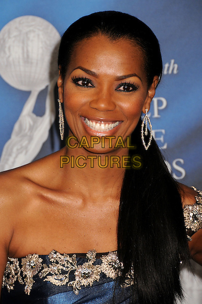VANESSA WILLIAMS.40th Annual NAACP Image Awards - Arrivals at the Shrine Auditorium, Los Angeles, California, USA..February 12th, 2009.headshot  portrait dangling earrings blue one shoulder silver .CAP/ADM/BP.©Byron Purvis/AdMedia/Capital Pictures.