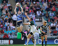Rory Hughes of Scotland at full stretch during the iRB Marriott London Sevens at Twickenham on Sunday 13th May 2012 (Photo by Rob Munro)