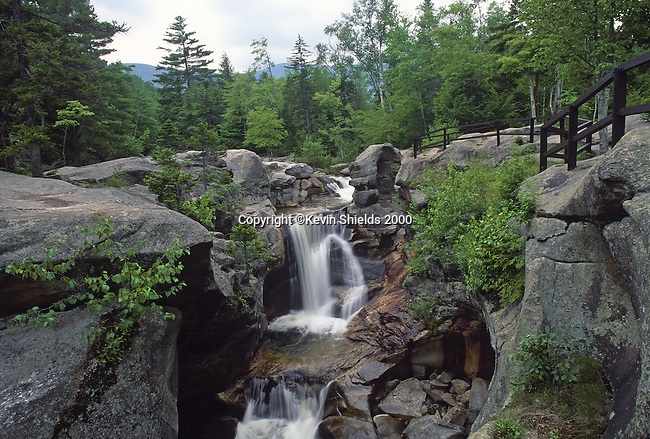 Screw Auger Falls in Grafton Notch State Park, Grafton Township, Maine, USA