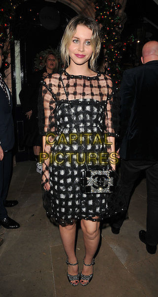 Billie JD Porter attends the LOVE magazine Christmas party, George Club, Mount Street, London, UK, on Friday 18 December 2015.<br /> CAP/CAN<br /> &copy;Can Nguyen/Capital Pictures