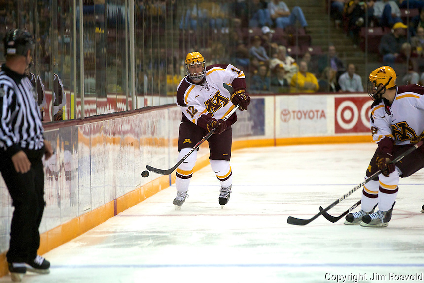 8 Oct 10:  Justin Holl (Minnesota - 12) The University of Minnesota plays host to Sacred Heart in a non-conference matchup at Mariucci Arena in Minneapolis, MN.