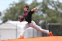 Hunter Patteson (67) of Vero Beach High School in Vero Beach, Florida during the Under Armour Baseball Factory National Showcase, Florida, presented by Baseball Factory on June 12, 2018 the Joe DiMaggio Sports Complex in Clearwater, Florida.  (Nathan Ray/Four Seam Images)