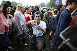 © Joel Goodman - 07973 332324 . 11/06/2016 . Manchester , UK . Reveller at the Parklife music festival at Heaton Park in Manchester . Photo credit : Joel Goodman