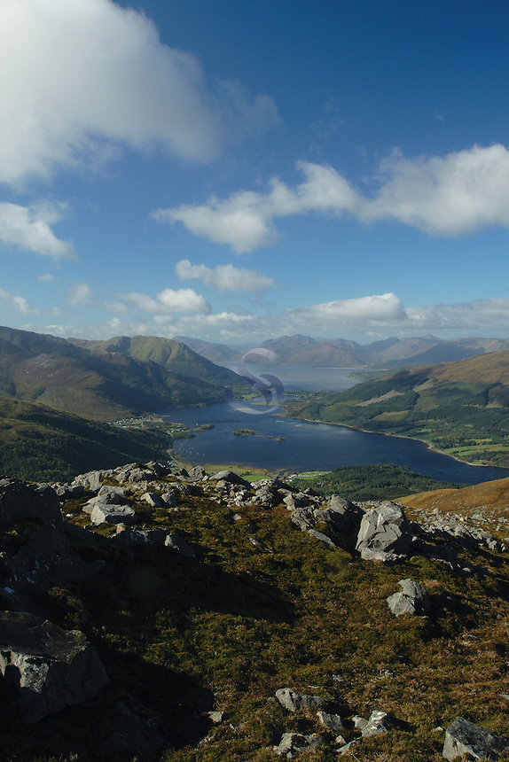 The Munro of Sgorr nam Fiannaidh, the western Munro of the Aonach Eagach above Glencoe. Sgorr na Ciche (Pap of Glencoe), Loch Linnhe and the Ardgour peninsula lie behind.<br /> <br /> Copyright www.scottishhorizons.co.uk/Keith Fergus 2011 All Rights Reserved