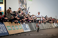 CX World Champion Mathieu van der Poel (NED/Corendon-Circus) wins his 7th of 7 races so far this season... <br /> <br /> Elite Men's Race<br /> UCI cyclocross WorldCup - Koksijde (Belgium)<br /> <br /> ©kramon