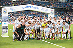 Real Madrid's players during XXXVIII Santiago Bernabeu Trophy at Santiago Bernabeu Stadium in Madrid, Spain August 23, 2017. (ALTERPHOTOS/Borja B.Hojas)