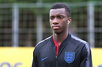 Eddie Nketiah of Arsenal and England arrives at the ground during Guatemala Under-23 vs England Under-20, Tournoi Maurice Revello Football at Stade Marcel Cerdan on 11th June 2019