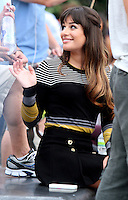 August 11, 2012 Lea Michele shooting on location for  Glee at Washington Square in New York City.Credit:© RW/MediaPunch Inc. /NortePHOTO.com