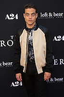 "Rami Malek attends the Premiere Of A24's ""The Rover"" - Red Carpet on June 12, 2014 (Photo by Crash/ Guest of A Guest)"