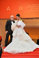 """CANNES, FRANCE. May 20, 2019: Aishwarya Rai & Thierry Fremaux  at the gala premiere for """"La Belle Epoque"""" at the Festival de Cannes.<br /> Picture: Paul Smith / Featureflash"""