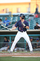 Bobby Boyd (3) of the Lancaster JetHawks bats against the Visalia Rawhide at The Hanger on July 6, 2016 in Lancaster, California. Lancaster defeated Visalia, 10-7. (Larry Goren/Four Seam Images)