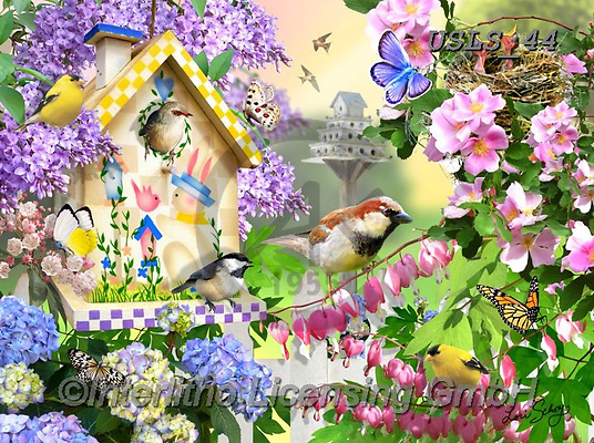 Lori, REALISTIC ANIMALS, REALISTISCHE TIERE, ANIMALES REALISTICOS, paintings+++++Spring_4_27X20_72,USLS44,#A#, EVERYDAY ,puzzles ,birdhouse ,puzzles