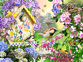 Lori, REALISTIC ANIMALS, REALISTISCHE TIERE, ANIMALES REALISTICOS, paintings+++++Spring_4_27X20_72,USLS44,#A#, EVERYDAY ,puzzles ,birdhouse