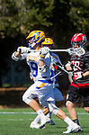 Santa Barbara, CA 04/16/16 - Reed Zabel (UCSB #9) in action during the final regular MCLA SLC season game between Chapman and UC Santa Barbara.  Chapman defeated UCSB 15-8.