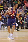 Turkish Airlines Euroleague 2017/2018.<br /> Regular Season - Round 13.<br /> FC Barcelona Lassa vs Unicaja Malaga: 83-90.<br /> Pierre Oriola.