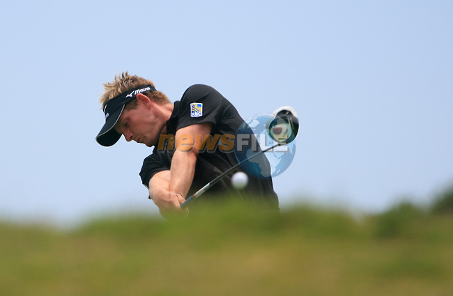 Luke Donald (ENG) tees off on the 5th tee during the afternoon session on Day 2 of the Volvo World Match Play Championship in Finca Cortesin, Casares, Spain, 20th May 2011. (Photo Eoin Clarke/Golffile 2011)