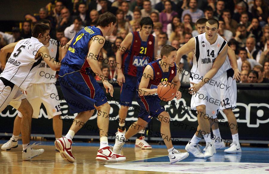 Sport Kosarka Evroliga Euroleague Partizan Barselona Barcelona Basketball Jaka Lakovic 24.10.2007. photo: Pedja Milosavljevic
