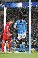 Wilfried Bony doesn't celebrate his goal during the Barclays Premier League Match between Manchester City and Swansea City played at the Etihad Stadium, Manchester on 12th December 2015