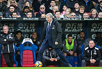Crystal Palace Manager Roy Hodgson stops the ball during the Premier League match between Crystal Palace and Manchester City at Selhurst Park, London, England on 31 December 2017. Photo by Andy Rowland.