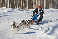 Musher Steve Maggio, 2007 Limited North American Championship Sled dog race in Fairbanks, Alaska.