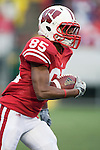 Wisconsin Badgers wide receiver David Gilreath (85) returns a kick during an NCAA college football game against the Indiana Hoosiers on November 13, 2010 at Camp Randall Stadium in Madison, Wisconsin. The Badgers won 83-20. (Photo by David Stluka)