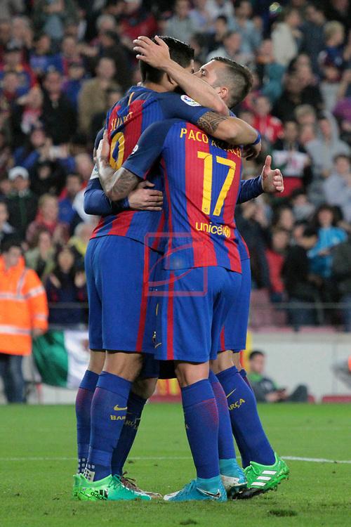 League Santander 2016/2017. Game: 32.<br /> FC Barcelona vs Real Sociedad: 3-2.