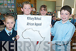 AFRICA: Pupils at Killury School, Causeway who raised funds for Africa, l-r: Christopher O'Donoghue, Daniel O'Halloran, Rebecca Mulvihill, Adam Guerin.   Copyright Kerry's Eye 2008