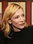 Cate Blanchett attendsthe Cate Blanchett and Richard Roxburgh Caricature Unveiling at Sardi's on March 14, 2017 in New York City.