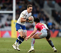 James Wilson of Bath Rugby in possession. Aviva Premiership match, between Harlequins and Bath Rugby on March 2, 2018 at the Twickenham Stoop in London, England. Photo by: Patrick Khachfe / Onside Images