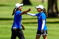 Silvia Brunotti (r) of NorthHarbour chips in to win her match Toro New Zealand Womens Interprovincial Tournament, Waitikiri Golf Club, Christchurch, New Zealand, 4th December 2018. Photo:John Davidson/www.bwmedia.co.nz