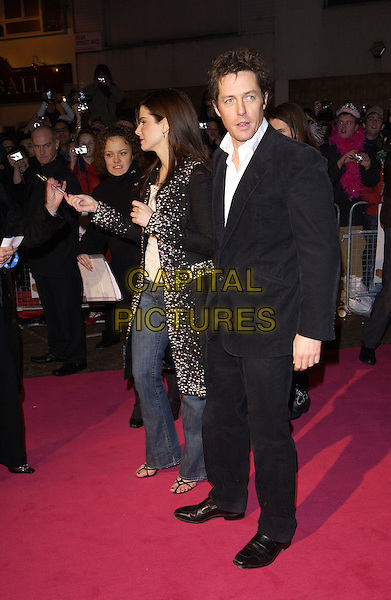 """Pic Shows:Sandra Bullock and Hugh grant arriving at The """"Miss Congieniality 2"""" Premiere at The Vue Cinema Leicester SquarePic:Steve Finn.Tel 07968 894444."""