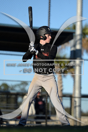 Liam Bailey (22) of South Charleston, West Virginia participates in the Baseball Factory All-America Pre-Season Rookie Tournament, powered by Under Armour, at Lake Myrtle Sports Complex on January 18, 2014 in Auburndale, Florida.  (Copyright Mike Janes Photography)