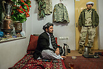 8 December 2013, Kabul, Afghanistan:  Minister of Parliament for Chora District, Uruzgan Province , Obaidullah Borakzai sitting in his Kabul residence talking about the challenges ahead. Australian forces are winding up their long Afghan deployment before Christmas in Uruzgan Province and much uncertainty remains for residents , many of whom have fled to refugee camps in Kabul fearing retribution.    Picture by Graham Crouch