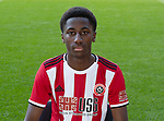 Jean Belehouan during the U23 2019/20 Photocall at Bramall Lane, Sheffield. Picture date: 17th September 2019. Picture credit should read: Simon Bellis/Sportimage