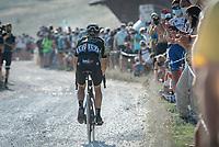 Luka Mezgec (SLO/Mitchelton Scott) at the gravel section atop the Montée du plateau des Glières (HC/1390m)<br /> <br /> Stage 18 from Méribel to La Roche-sur-Foron (175km)<br /> <br /> 107th Tour de France 2020 (2.UWT)<br /> (the 'postponed edition' held in september)<br /> <br /> ©kramon