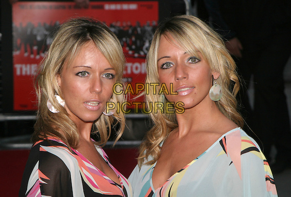 EMMA & EVE.The Football Factory - UK Charity Film Premiere, Odeon, West End, London, WC2.May 10th, 2004.headshot, portrait.www.capitalpictures.com.sales@capitalpictures.com.© Capital Pictures..