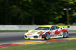 10 August 2007: The Peterson White Lightning Ferrari F430 GT driven by Peter Dumbreck , Dirk Muller, and Michael Petersen at the Generac 500 at Road America, Elkhart Lake, WI