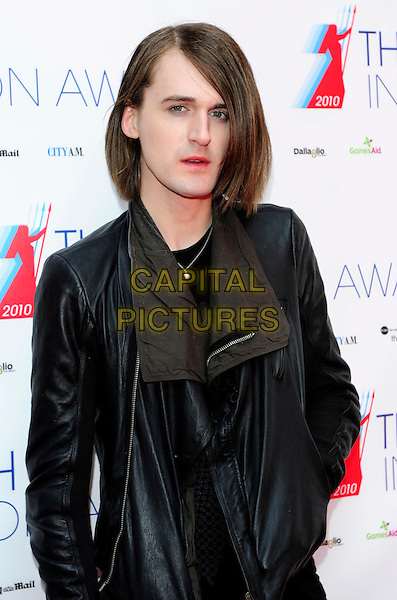 GARETH PUGH .The British Inspiration Awards,  .The Brewery, Chiswell Street, London, .England, UK, .April 23rd 2010..half length black leather jacket .CAP/CJ.©Chris Joseph/Capital Pictures