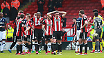 Sheffield Utd players at the end of the match during the championship match at the Bramall Lane Stadium, Sheffield. Picture date 14th April 2018. Picture credit should read: Simon Bellis/Sportimage