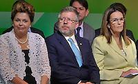 RIO DE JANEIRO, RJ, 13 DE FEVEREIRO DE 2012 - POSSE PETROBRAS - e/d Presidente Dilma Rousseff, Deputado Marco Maia, Presidente da Petrobras, Mari das Graças Cerimônia de Posse da nova Presidente da Petrobrás  na cerimônia de tomada de posse da nova Presidente da Petrobras, Graça Foster, na sede da Petrobras. FOTO GLAICON EMRICH - NEWS FREE