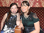 May Reilly and Louise Finlay pictured at the Mattock Rangers Awards night in The Grove House Dunleer. Photo:Colin Bell/pressphotos.ie