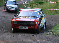 Alister MacArthur / Chris Robertson at Junction 6, on Special Stage 1 Craigvinean in the Colin McRae Forest Stages Rally 2012, Round 8 of the RAC MSA Scotish Rally Championship which was organised by Coltness Car Club and based in Aberfeldy on 5.10.12.